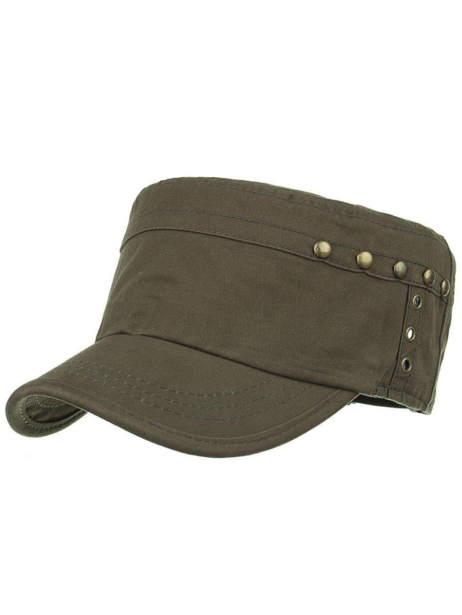 Unique Rivets Pattern Embellished Army Hat - ARMY GREEN