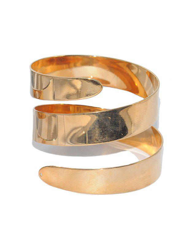 Metal Alloy Cuff Bracelet - GOLDEN