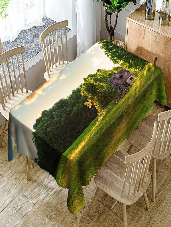 Landscape Print Waterproof Polyester Table Cloth - COLORMIX W54 INCH * L72 INCH