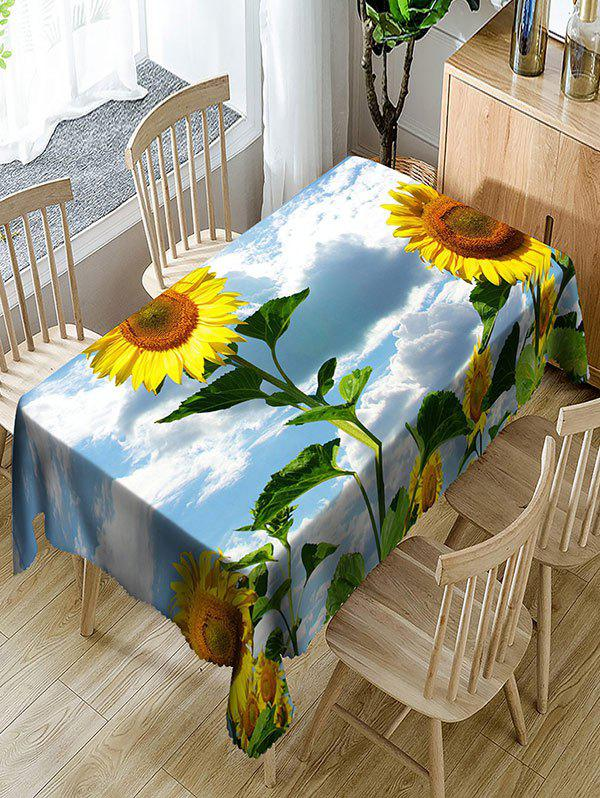 3D Sunflowers Printed Waterproof Table Cloth - COLORMIX W60 INCH * L84 INCH