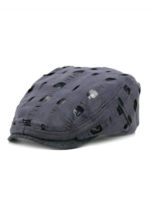 Unique Hollow Hole Pattern Cabbie Hat - GRAY