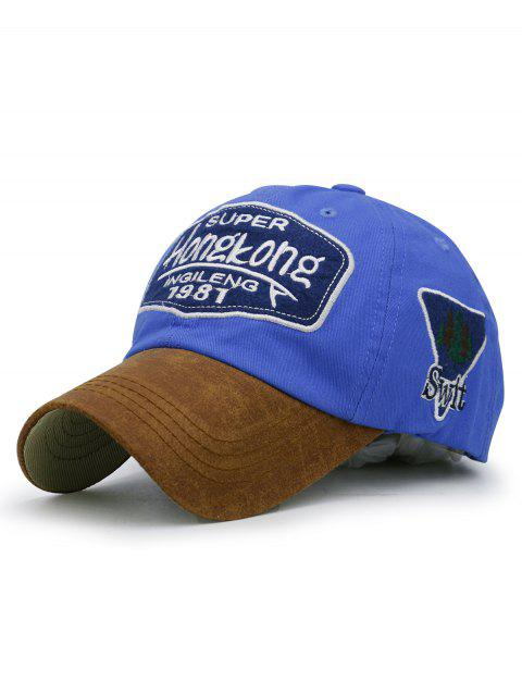 Unique Letter Embroidery Adjustable Graphic Hat - BLUE