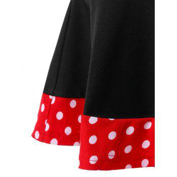 Plus Size Retro Polka Dot Mermaid Skirt - BLACK 5XL