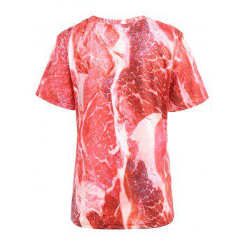 Casual Raw Meat Tee - RED XL