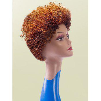 Short Shaggy Afro Curly Colormix Synthetic Wig - CITRUS