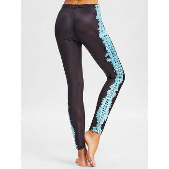 Tribal Totem Printed Workout Pants - BLACK M