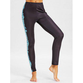 Tribal Totem Printed Workout Pants - BLACK 2XL