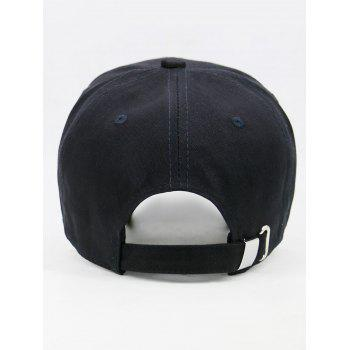 Unique Camou Pattern Embellished Baseball Cap - BLACK