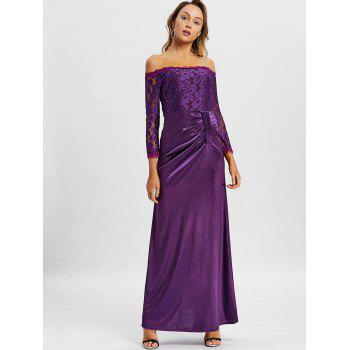 Off The Shoulder Long Party Dress - VIOLET S