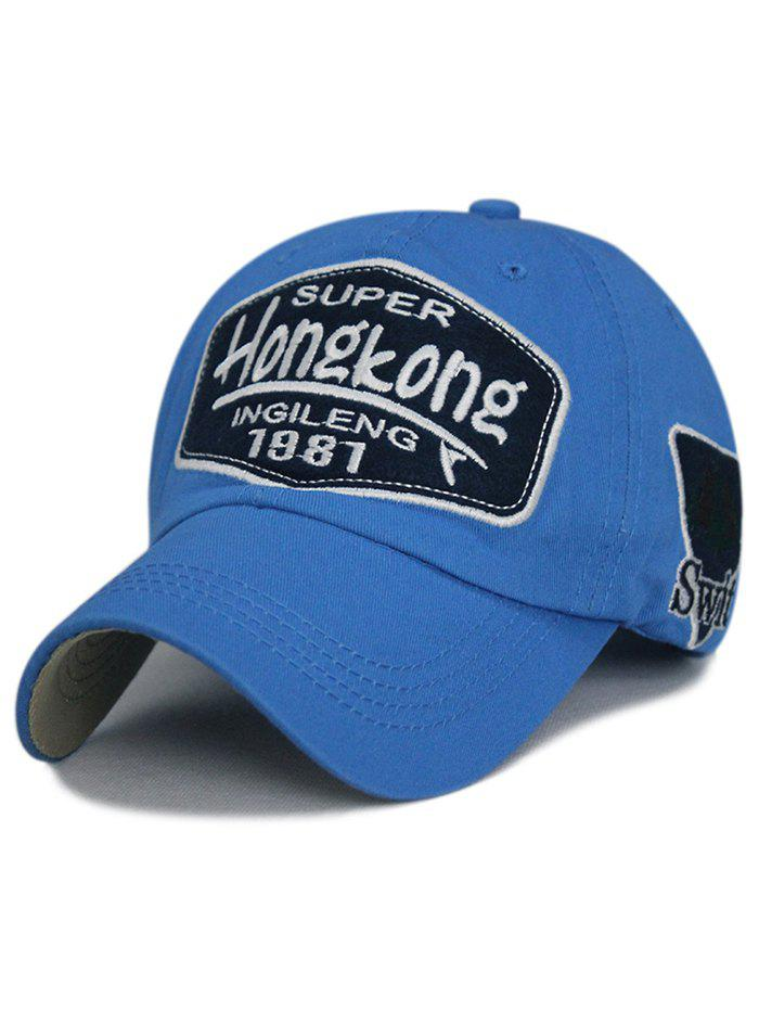 Unique Letter Sentences Cotton Baseball Hat - AZURE