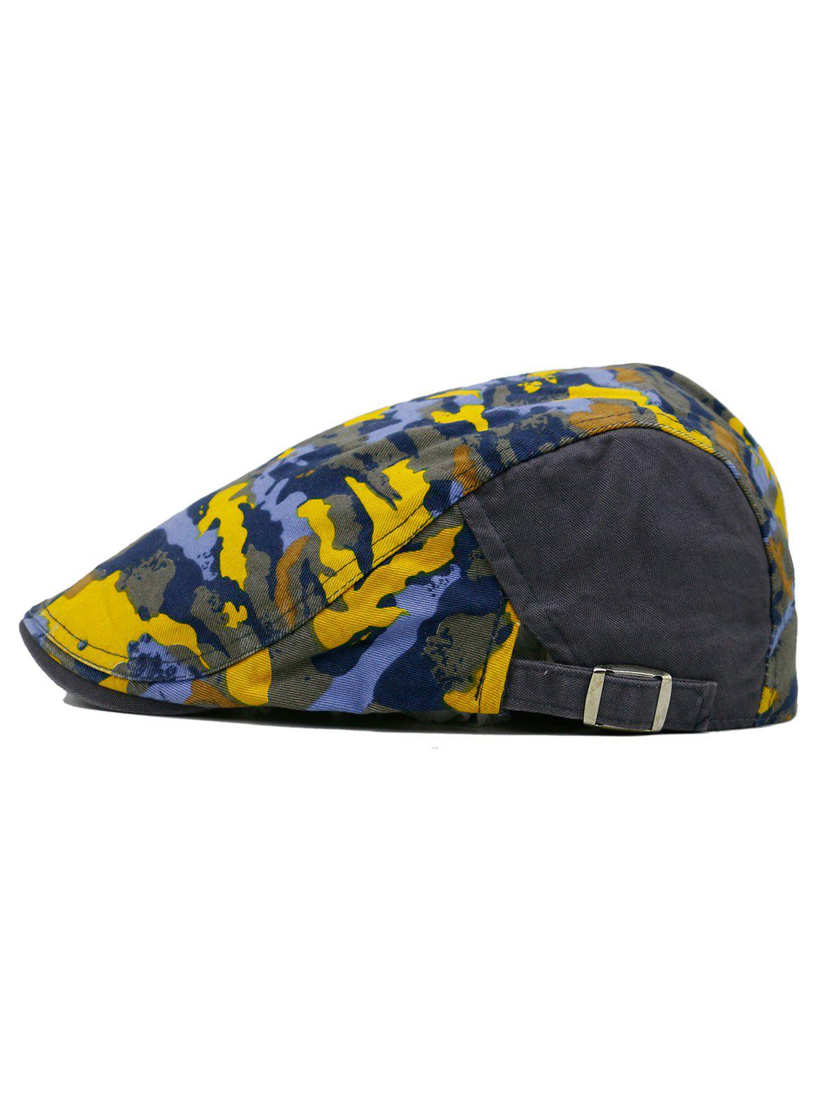 Unique Colored Camouflage Pattern Cabbie Hat - GRAY