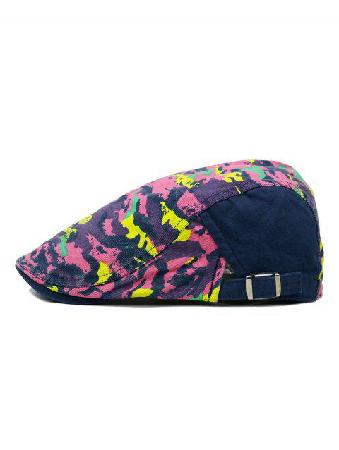 Unique Colored Camouflage Pattern Cabbie Hat - DEEP BLUE
