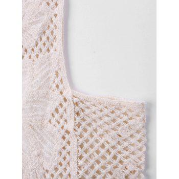 Sleeveless Knit Cover Up Top - APRICOT ONE SIZE