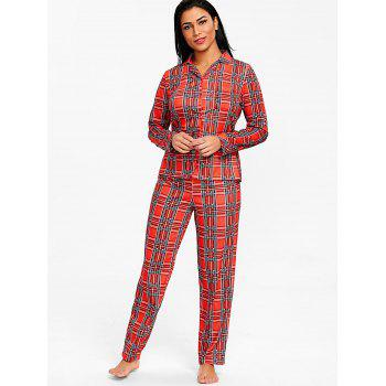 Tartan Pajamas Set - CHECKED M