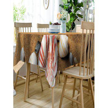 Sand Shell Starfish Print Waterproof Dining Table Cloth - YELLOW W54 INCH * L72 INCH