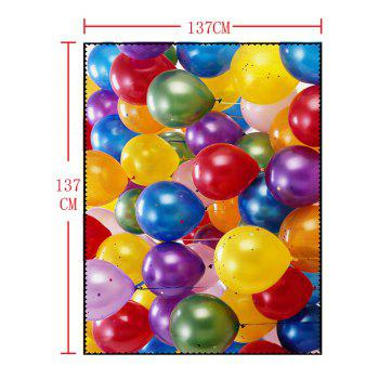 Colorful Balloons Print Waterproof Table Cloth - COLORFUL W54 INCH * L54 INCH
