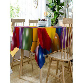 Colorful Balloons Print Waterproof Table Cloth - COLORFUL W60 INCH * L84 INCH