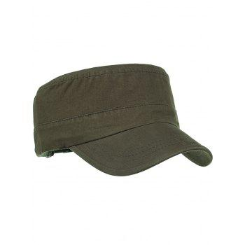 Metal Ring Pattern Adjustable Military Hat - ARMY GREEN