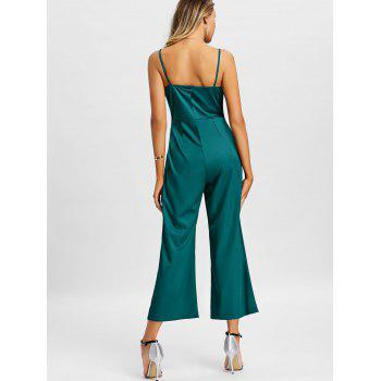Wide Leg Slip Jumpsuit - GREEN M