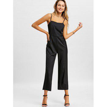 Wide Leg Slip Jumpsuit - BLACK L