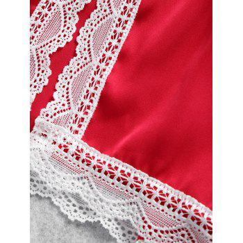 Summer Cami Lace Trim Sleep Set - RED S