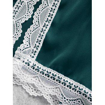Summer Cami Lace Trim Sleep Set - GREEN XL