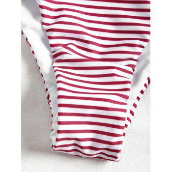 Bikini à rayures taille basse - ROUGES BANDES M