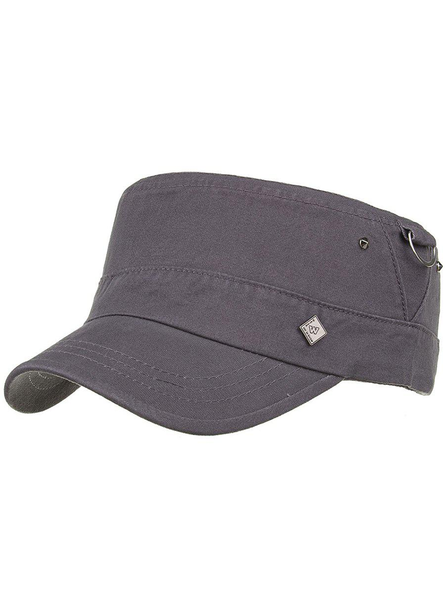 Metal Ring Pattern Adjustable Military Hat - GRAY