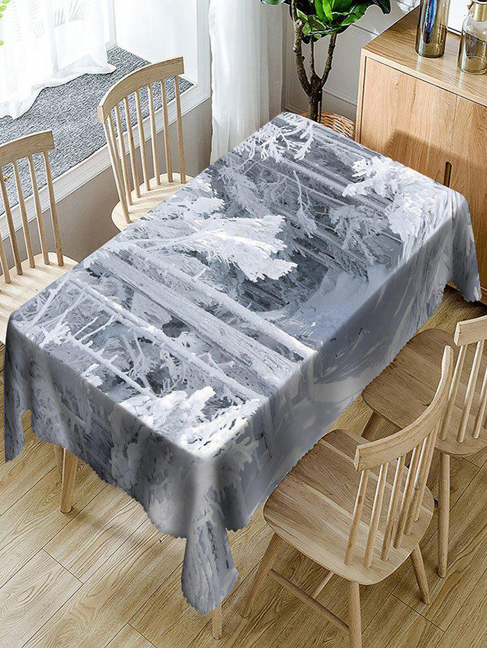 Grove after Snow Pattern Indoor Outdoor Table Cloth - COLORMIX W60 INCH * L84 INCH