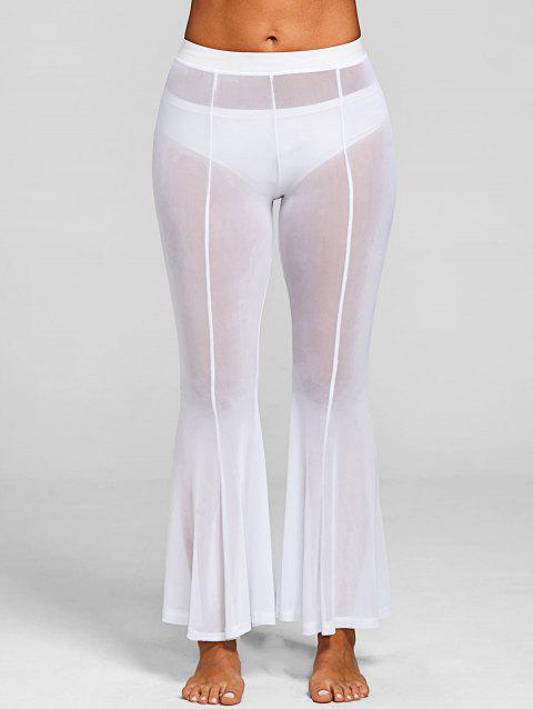 Pantalon De Couverture Long Transparent - Blanc L