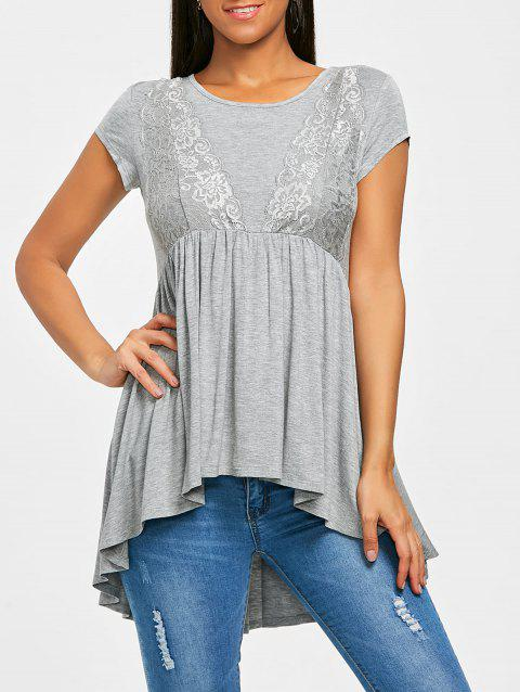 High Low Smock Top - GRAY L