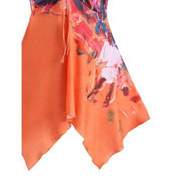 Butterfly Sleeve Oil Painting Blouse - COLORMIX M