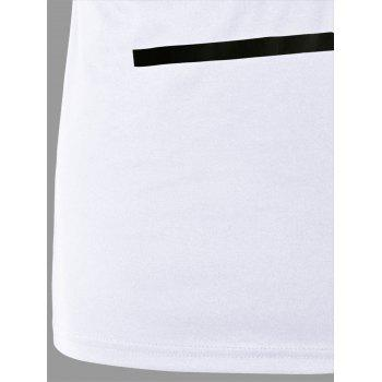 Tee-shirt d'impression de lettre - Blanc MEN2XL