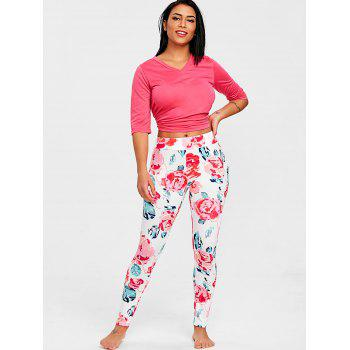 Flower Sleep Trousers - PINK S