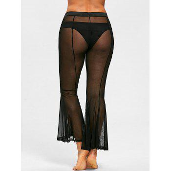 See Through Long Cover-up Pants - BLACK XL