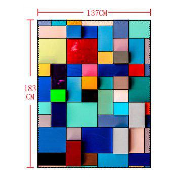 Waterproof Colorful Geometric Print Dining Table Cloth - COLORFUL GEOMETRIC W54 INCH * L72 INCH