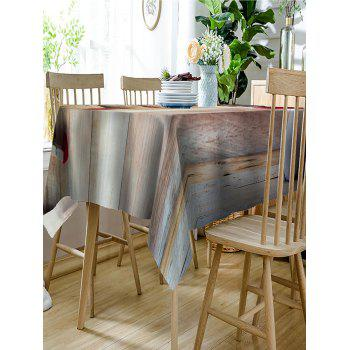 Bear with A Heart Print Dining Table Cloth - WOOD COLOR W60 INCH * L84 INCH