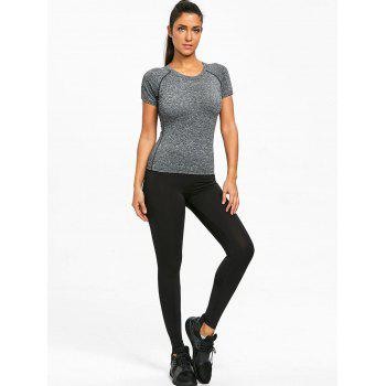 Marled Sports T-shirt - GRAY M