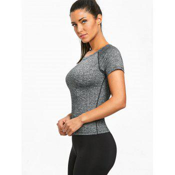 Marled Sports T-shirt - GRAY 2XL