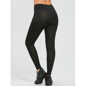 Words Print Exercise Leggings - BLACK L