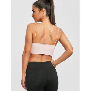 Strappy Cropped Cami Top - NUDE PINK L