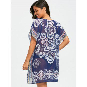 See Through Kaftan Chiffon Cover Up Dress - COLORMIX ONE SIZE