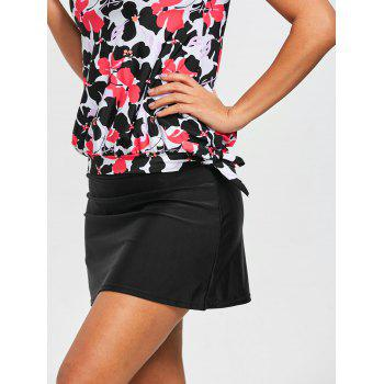 Blouson Floral Skirt Tankini Set - COLORMIX 2XL