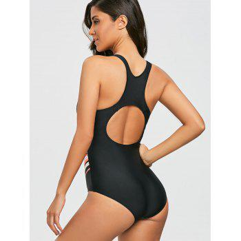 Racerback Cut Out - Maillot de bain en U - Orange Clair L