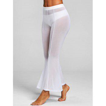 See Through Long Cover-up Pants - WHITE XL