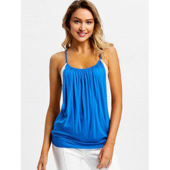 Panel Faux Twinset Slip Top - BLUE XL