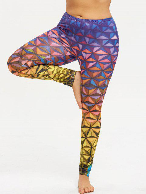 Plus Size Funky Gym Leggings - COLORFUL 5XL