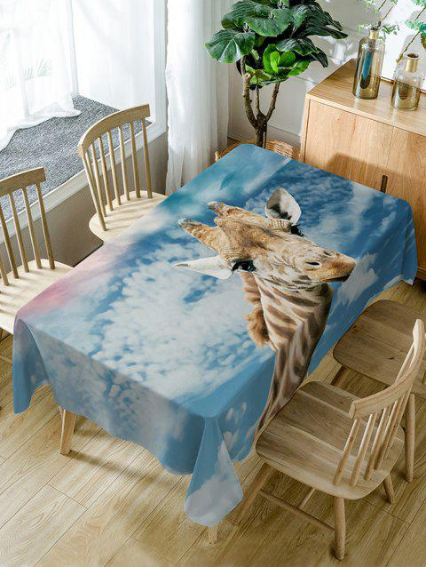 Giraffe Print Waterproof Dining Table Cloth - COLORMIX W54 INCH * L54 INCH