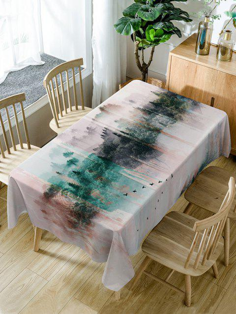 Nappe de Table Imperméable à Imprimé Montagnes - multicolore W60 INCH * L84 INCH