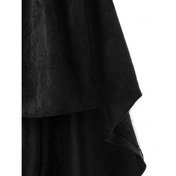 Off The Shoulder Lace haute basse robe de soirée - Noir XL